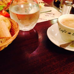 Photo taken at Café de Flore by Dina Z. on 10/15/2013