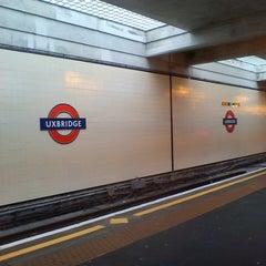 Photo taken at Uxbridge London Underground Station by Georgia L. on 4/17/2013