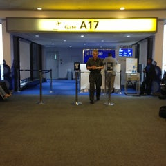 Photo taken at Gate A17 by Abc D. on 9/10/2013
