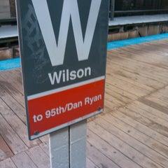Photo taken at CTA - Wilson by Romeo Hubert D. on 2/23/2013