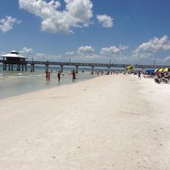 Photo taken at Fort Myers Beach by Kai B. on 4/23/2013