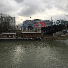 Photo taken at Pont de Levallois by Carolina C. on 1/17/2016