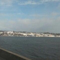 Photo taken at Fred Schwengel Memorial Bridge by Lisa L. on 2/19/2013