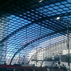 Photo taken at Berlin Hauptbahnhof by Victoria M. on 5/15/2013