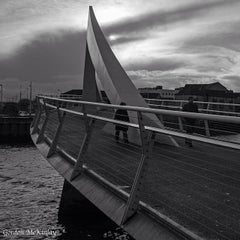 Photo taken at Tradeston-Broomielaw Bridge (Squiggly) by Gordon M. on 1/25/2014