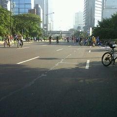 Photo taken at MH. Thamrin - Sudirman Street by riska h. on 6/23/2013