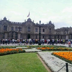 Photo taken at Plaza Mayor de Lima by Victoria A. on 3/11/2013
