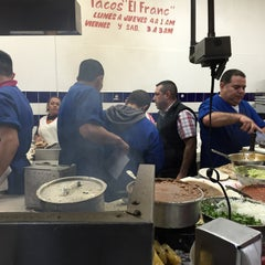 Photo taken at Tacos El Franc by Oscar P. on 12/20/2014