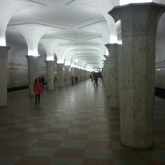 Photo taken at Метро Кропоткинская (metro Kropotkinskaya) by Михаил К. on 3/15/2013
