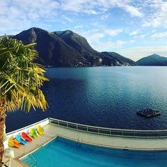 Photo taken at Hotel Lido Seegarten Lugano by Chris B. on 2/11/2016