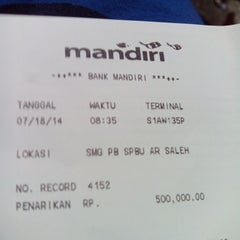 Photo taken at ATM Mandiri SPBU 4450120 by Tomy S. on 7/18/2014