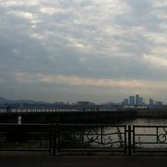 Photo taken at 안양천 합수부 by nalca on 6/5/2015