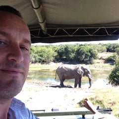 Photo taken at Pumba Private Game Reserve by Giles H. on 4/12/2014