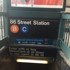 Photo taken at MTA Subway - 86th St (B/C) by Ace W. on 1/15/2016