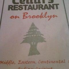 Photo taken at Cedars Restaurant by Frumpy D. on 9/27/2011