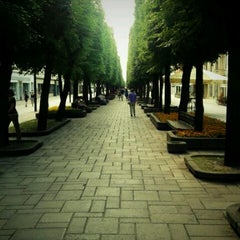 Photo taken at Laisvės alėja | Liberty Avenue | Аллея Свободы by Vincentas V. on 7/28/2012