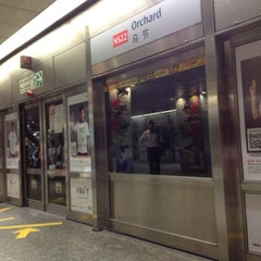 Photo taken at Orchard MRT Station (NS22) by drewmatic on 3/19/2012