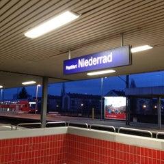 Photo taken at Bahnhof Frankfurt-Niederrad by Timur Z. on 3/31/2012