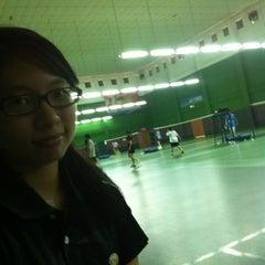 Photo taken at BJGCR Badminton Court by Edvin L. on 8/5/2012