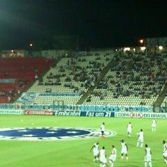 Photo taken at Estádio Joaquim Henrique Nogueira (Arena do Jacaré) - Democrata Futebol Clube by Breno C. on 4/19/2012