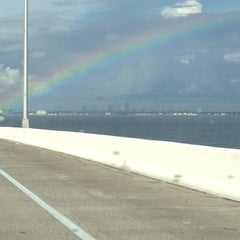 Photo taken at Howard Frankland Bridge by Lori B. on 7/16/2012