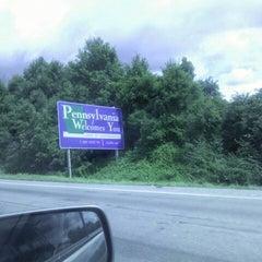 Photo taken at Delaware / Pennsylvania State Line by Carolina Z. on 7/20/2012