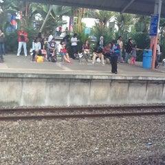 Photo taken at KTM Line - Bandar Tasik Selatan Station (KB04) by Asyiqah R. on 4/7/2012