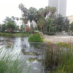 Photo taken at La Brea Tar Pits by Mark P. on 7/13/2013
