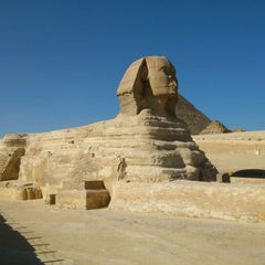 Photo taken at Great Sphinx of Giza | تمثال أبو الهول by Ari K. on 12/12/2012