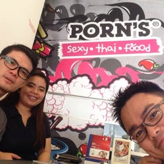 Photo taken at Porn's Sexy.Thai.Food by ahmerism on 5/3/2014