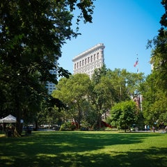 Photo taken at Madison Square Park by Jeffrey Z. on 7/17/2013