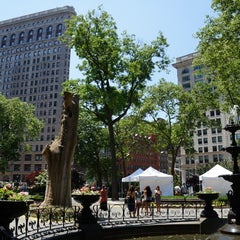 Photo taken at Madison Square Park by Jeffrey Z. on 6/1/2013