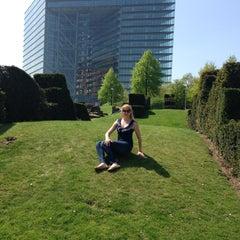 Photo taken at Rheinturm Park by Svetlana R. on 5/4/2013