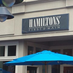 Photo taken at Hamiltons' at First & Main by Michelle H. on 6/11/2014