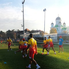 "Photo taken at Stadionul Național de Rugby ""Arcul de Triumf"" by Scott A. on 11/5/2013"