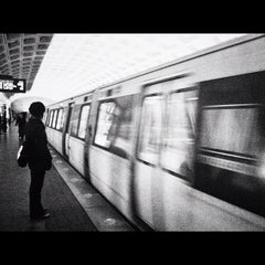 Photo taken at Foggy Bottom-GWU Metro Station by Julio C. on 12/7/2012