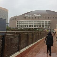 Photo taken at 福岡ヤフオク!ドーム (Fukuoka Yafuoku! Dome) by Alicia M. on 4/6/2013