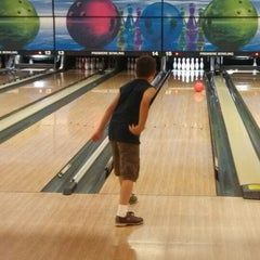 Photo taken at Premiere Bowling & Entertainment by Amber R. on 6/21/2013