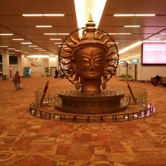 Photo taken at Indira Gandhi International Airport (DEL) by Abhinav G. on 2/11/2013