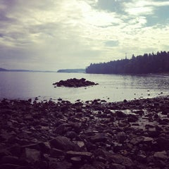Photo taken at Departure Bay Beach by Diana B. on 9/21/2013
