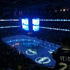 Photo taken at Amalie Arena by Mary Beth C. on 2/13/2013