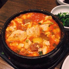 Photo taken at BCD Tofu House by Lori L. on 2/13/2015