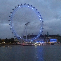 Photo taken at The London Eye by Andrew J. on 7/20/2013