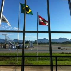 Photo taken at Aeroporto de Joinville / Lauro Carneiro de Loyola (JOI) by Rodrigo S. on 11/28/2012