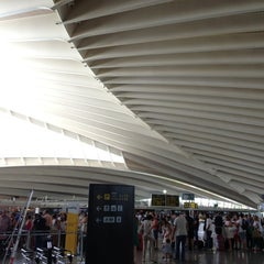 Photo taken at Aeropuerto de Bilbao (BIO) by Natalia Z. on 7/29/2013