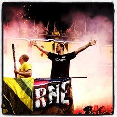 Photo taken at Brøndby Stadion by Robert H. on 5/10/2013