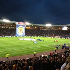 Photo taken at Hampden Park by John F. on 9/6/2013