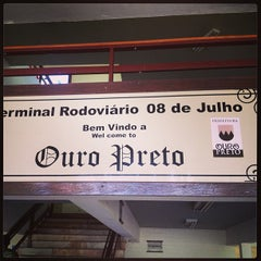 Photo taken at Terminal Rodoviário de Ouro Preto by André A. on 12/25/2012