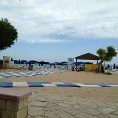 Photo taken at Makronissos beach by Kalisto J. on 5/10/2013