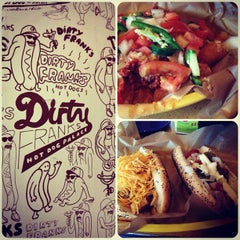 Photo taken at Dirty Frank's Hot Dog Palace by Tessa S. on 3/16/2013
